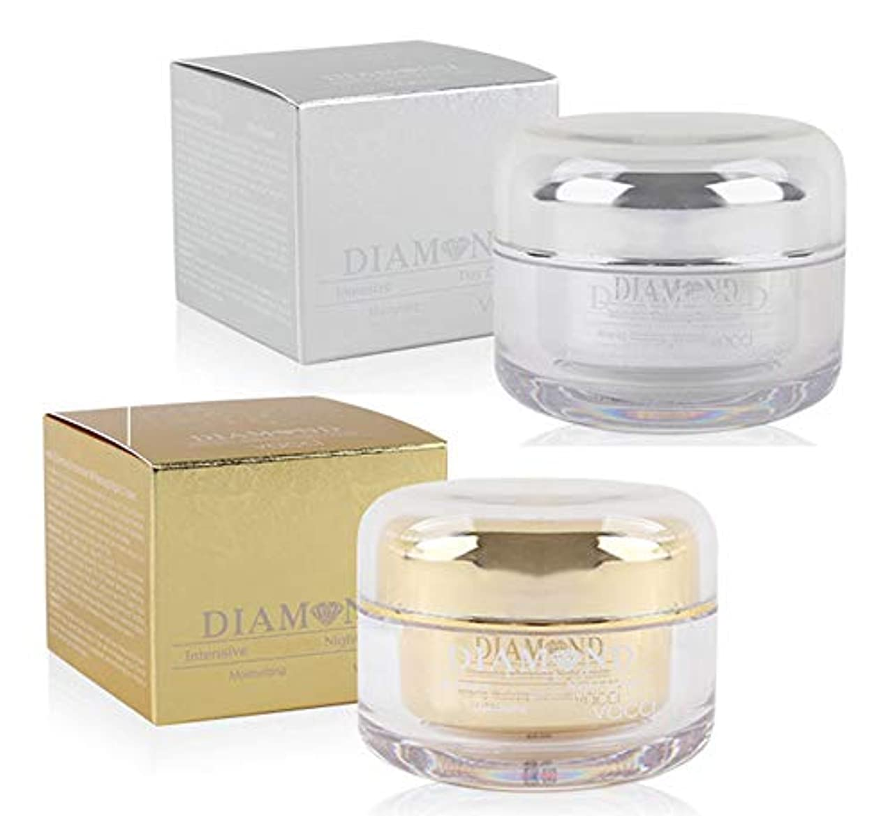 フライカイト幅つづり[vacci] ダイヤモンドインテンシブホワイトニングデイクリーム50ml&ナイトクリーム50ml / Diamond Intensive Whitening Day Cream 50ml & Night Cream 50ml...
