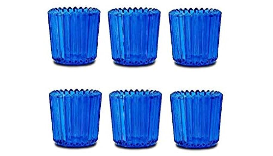 ウォーターフロント納屋ロゴヤンキーキャンドル ソレイユ J5120000BL ブルー 6個入り