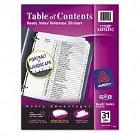Avery Readyインデックスクラシックタブタイトル、31-tab、1–31、8.5X 11インチ、ブラック/ホワイト、31per Set ( 3パック)