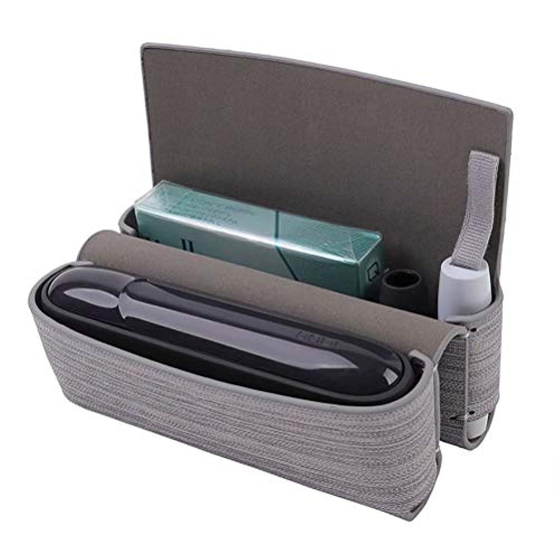 いつでも鼻南Kumi アイコスカバーケース iqos3 完全保護 薄い 収納 軽量 USB充電穴 クリア ブランド(F グレー)