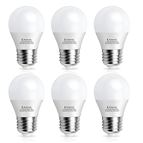 LED電球 Ambimall 口金直径26mm 60W相当(7W) 昼白色(5000K)広配光タイプ 密閉形器具対応 (セット:6個入り) ABM-A157CW