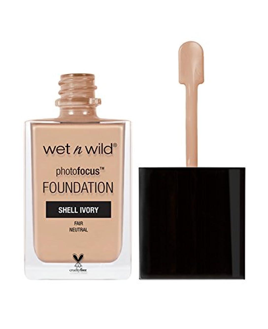 遠洋のテレマコスびっくりするWET N WILD Photo Focus Foundation - Shell Ivory (並行輸入品)