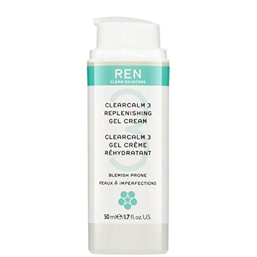 オープナー獣不快なREN Clearcalm 3 Replenishing Gel Cream - 3補給ゲルクリーム [並行輸入品]