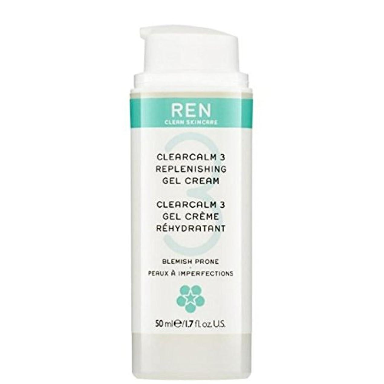 パキスタンカカドゥミッションREN Clearcalm 3 Replenishing Gel Cream - 3補給ゲルクリーム [並行輸入品]