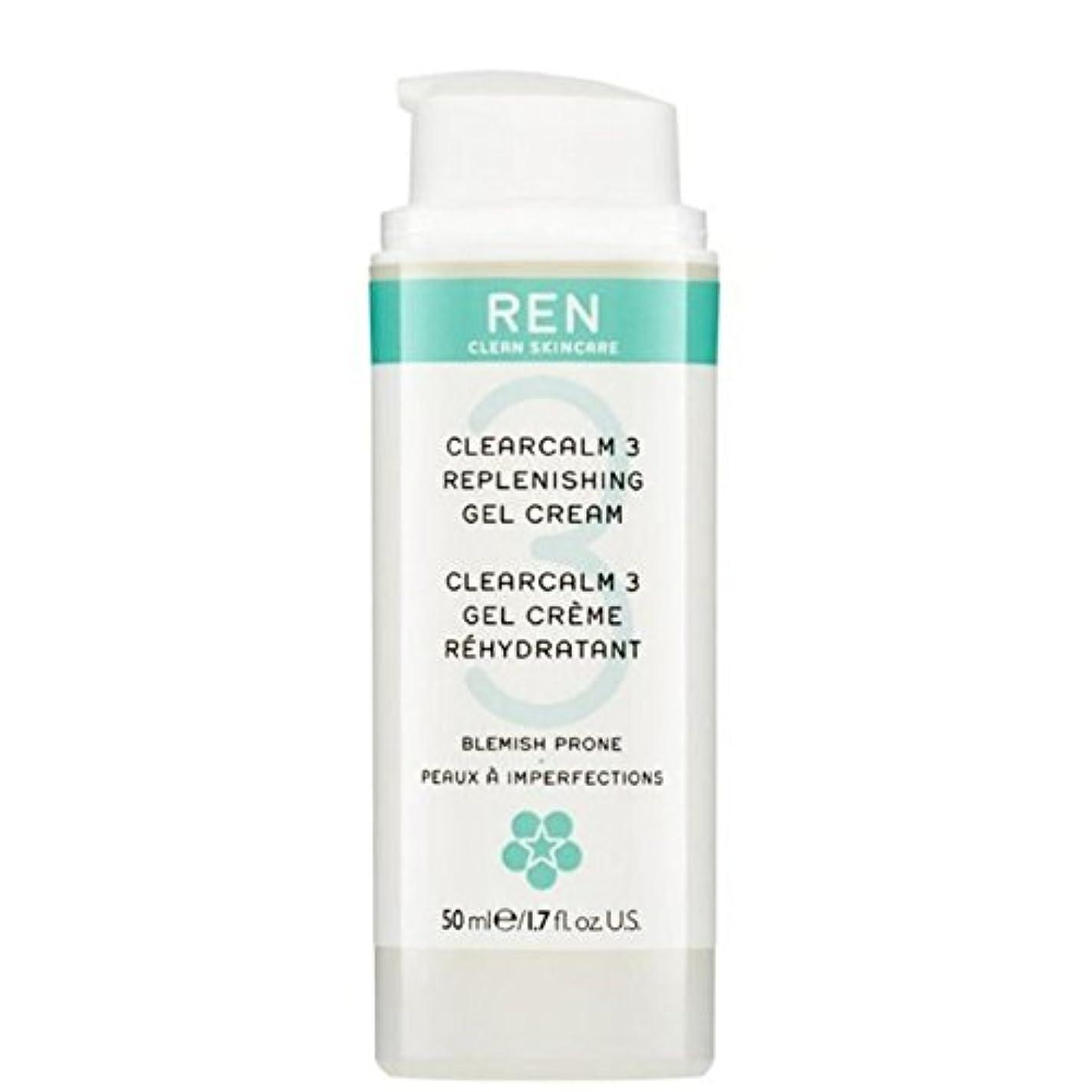 排泄物子犬ポジションREN Clearcalm 3 Replenishing Gel Cream - 3補給ゲルクリーム [並行輸入品]