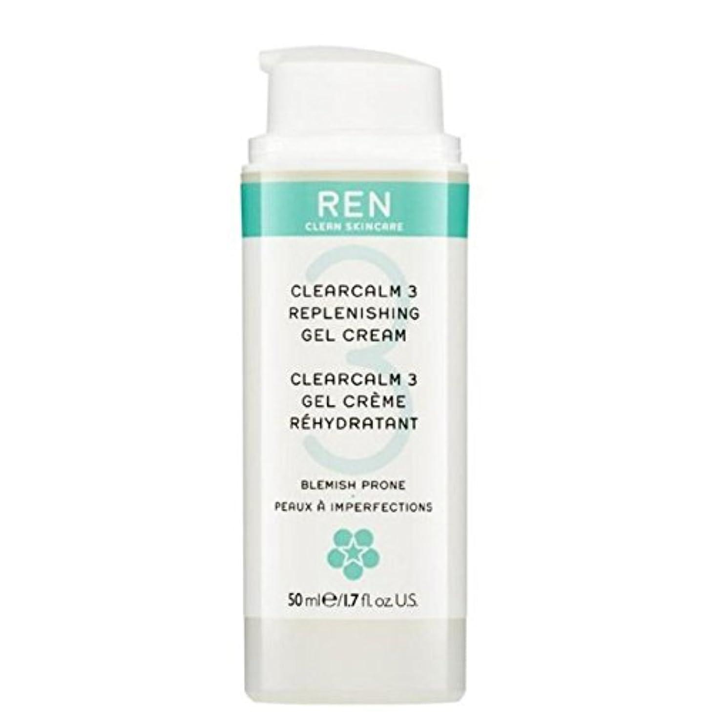 ゲージスクラッチ未接続REN Clearcalm 3 Replenishing Gel Cream (Pack of 6) - 3補給ゲルクリーム x6 [並行輸入品]