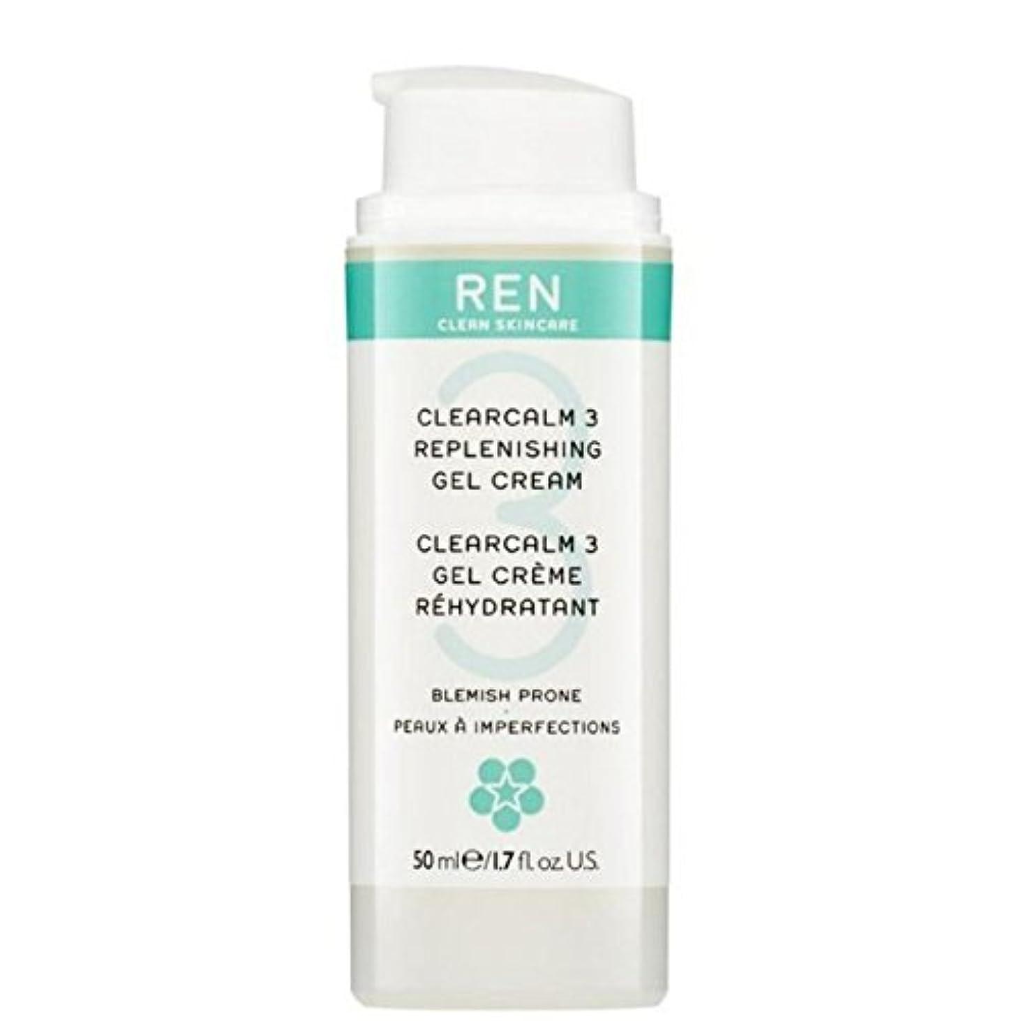 解任クリア枝REN Clearcalm 3 Replenishing Gel Cream - 3補給ゲルクリーム [並行輸入品]