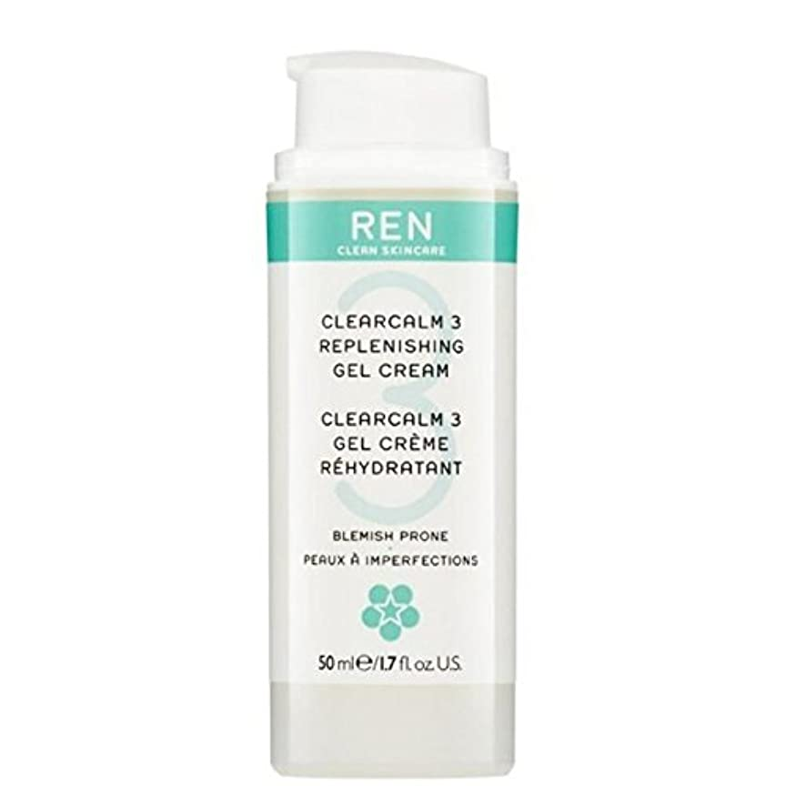 薄暗いシェーバーマウスピースREN Clearcalm 3 Replenishing Gel Cream - 3補給ゲルクリーム [並行輸入品]