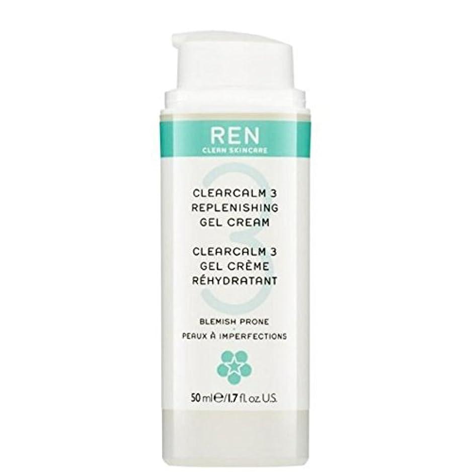 抵抗円形悪行REN Clearcalm 3 Replenishing Gel Cream (Pack of 6) - 3補給ゲルクリーム x6 [並行輸入品]