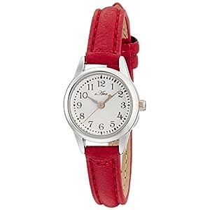 [フィールドワーク]Fieldwork 腕時計 ファッションウォッチ 小丸 レザー 革ベルト レッド FSC026-F レディース
