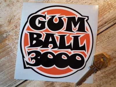 Gum Ball 3000 Orange, Black & White Sticker ガルフ オイル ステッカー シール デカール 102mm [並行輸入品]