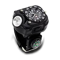 0009238fe5 LEDライト搭載 トーチウォッチ コンパス搭載 アナログ 腕時計 LED ライト ...