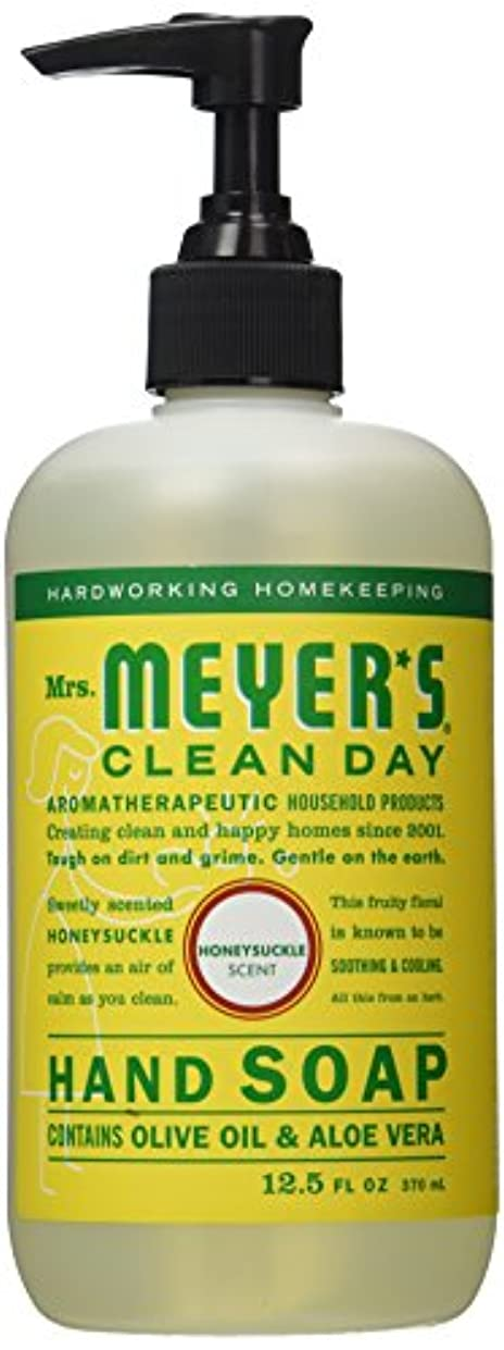 伝統普通に誇りに思うMrs. Meyers Clean Day Liquid Hand Soap, Honeysuckle, 12.50 oz by Mrs. Meyers Clean Day