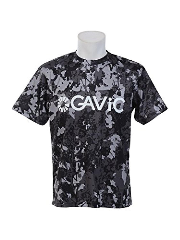 ガビック サッカー フットサル メンズ プラクティス シャツ 昇華 プラシャツ キャノーラ ブラック GA8062 S