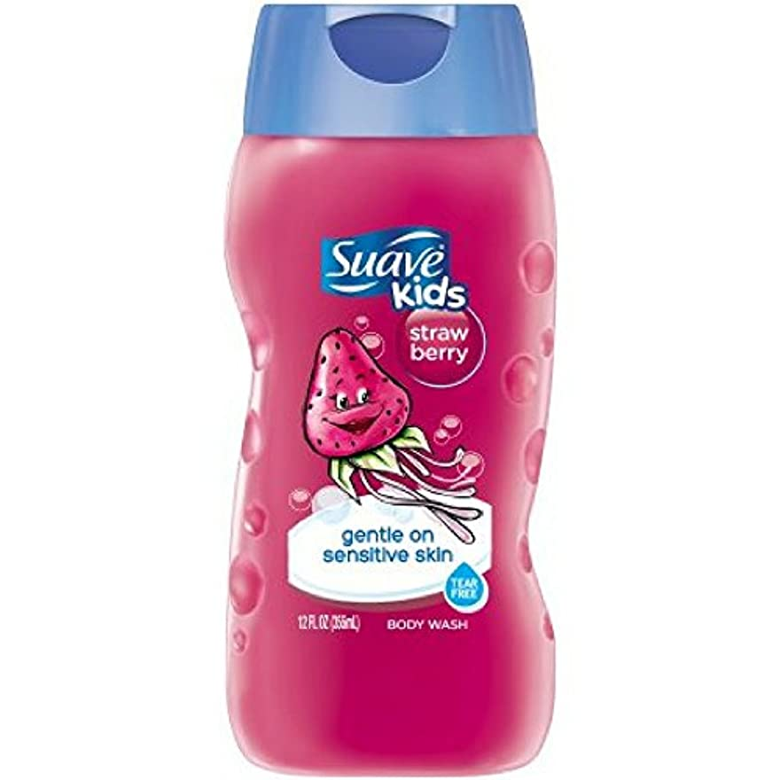 挽く卵質素なSuave Kids Kids Body Wash - Strawberry - 12 oz - 2 pk by Suave [並行輸入品]