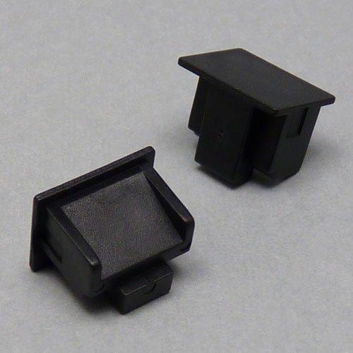 テクノベインズ RJ45用キャップ(黒)つまみなし 6個/パック RJ45CAPK-B0-6