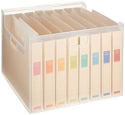 ナカバヤシ ファイルボックス 書類収納ケース なげこみBOX F7 8分類 フボI-F7