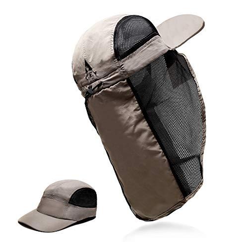 L.A.Y 帽子 メンズ & レディース メッシュ 日よけ 熱中症 ぼうし サンシェード 釣り 登山 ランニング キャップ 2WAY