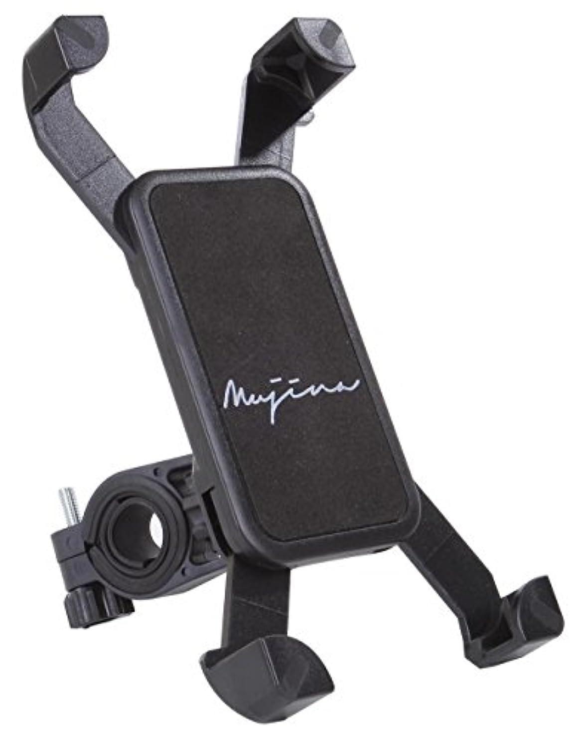 フレキシブル固執無力(ムジナ) mujina スマートフォンマウントホルダー 自転車 バイク用 360度回転 多機種対応