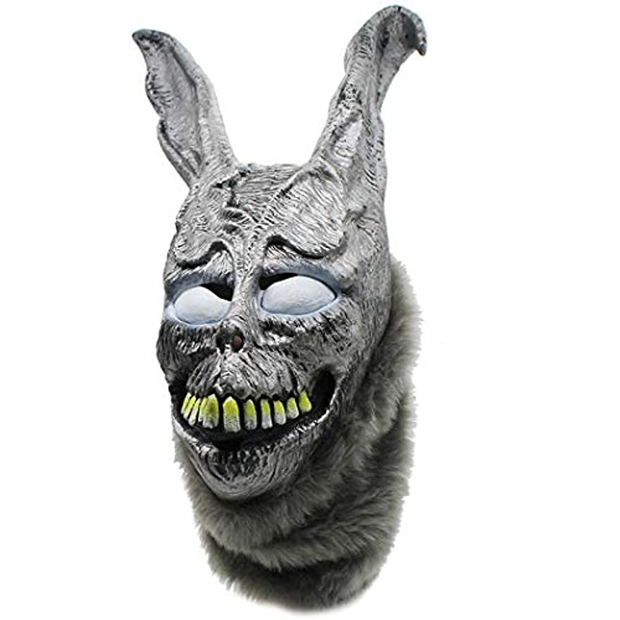 ドキュメンタリー遅らせる大惨事怒っているウサギのマスクフランク悪シルバーラビットアニマルヘッドギアパーティーアニマルマスク