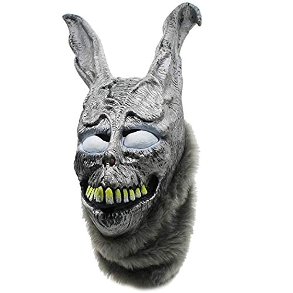 ファブリックずっと押す怒っているウサギのマスクフランク悪シルバーラビットアニマルヘッドギアパーティーアニマルマスク