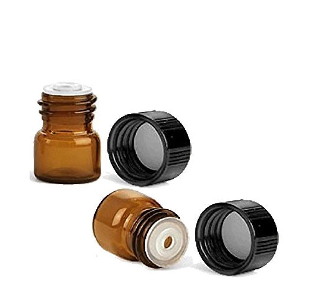 圧縮されたキャプテン厚さGrand Parfums 1/4 Dram AMBER Glass Vial with Dropper Top for Essential Oils - Grand Parfums Screw Cap w/Orifice...