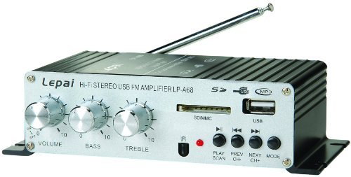 Lepai LP-A68 Digital 2 x 15W Amplifier with Remote/USB/MP3/SD/FM