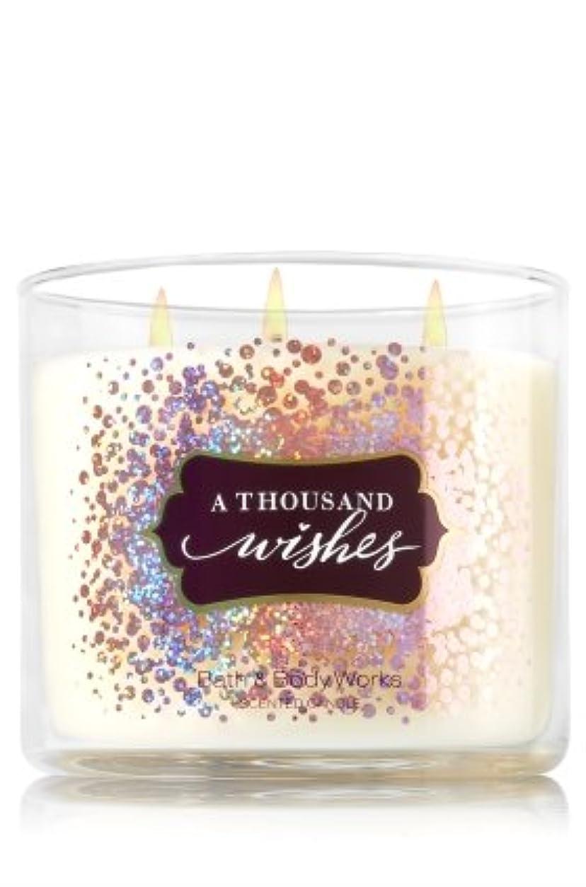 コードレス蒸発示す【Bath&Body Works/バス&ボディワークス】 アロマキャンドル アサウザンドウィッシュ 3-Wick Scented Candle A Thousand Wishes 14.5oz/411g [並行輸入品]