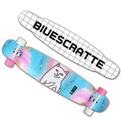 ロング スケートボード 46インチ メープルデッキ コンプリート スケボー ABEC9ベアリング採用 大人/若者/子供対応