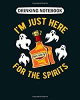 Drinking Notebook: boo spirits  College Ruled - 50 sheets, 100 pages - 8 x 10 inches