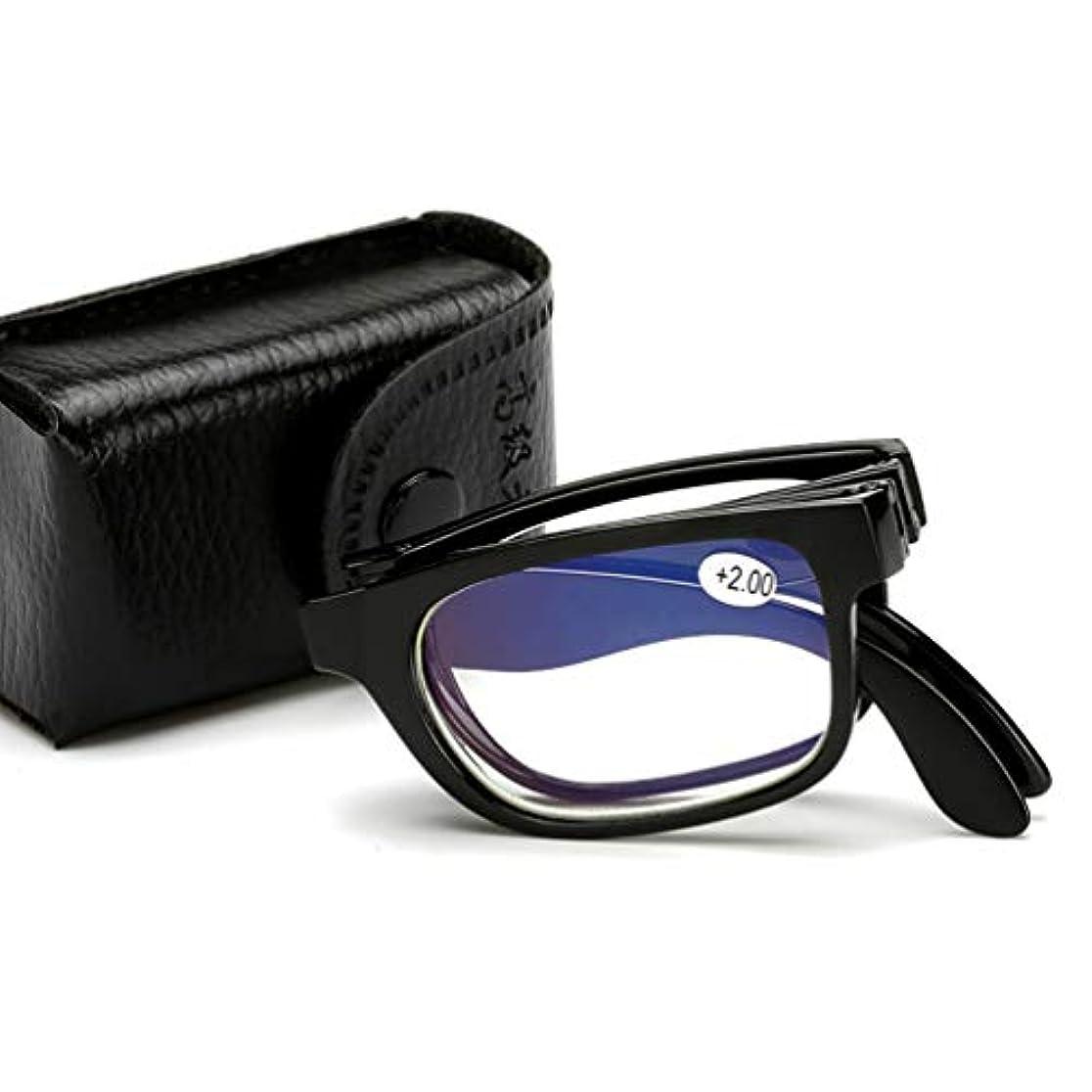 (ライチ) Lychee 老眼鏡 おしゃれ シンプル 使いやすい 携帯用 折りたたみ 見やすく楽に掛けられる ブラック (+4.0)