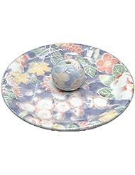 9-28 華友禅 9cm香皿 お香立て お香たて 陶器 日本製 製造?直売品