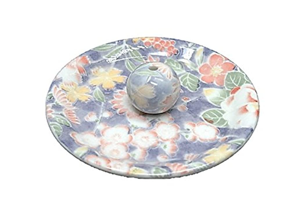 甘美な追放苗9-28 華友禅 9cm香皿 お香立て お香たて 陶器 日本製 製造?直売品