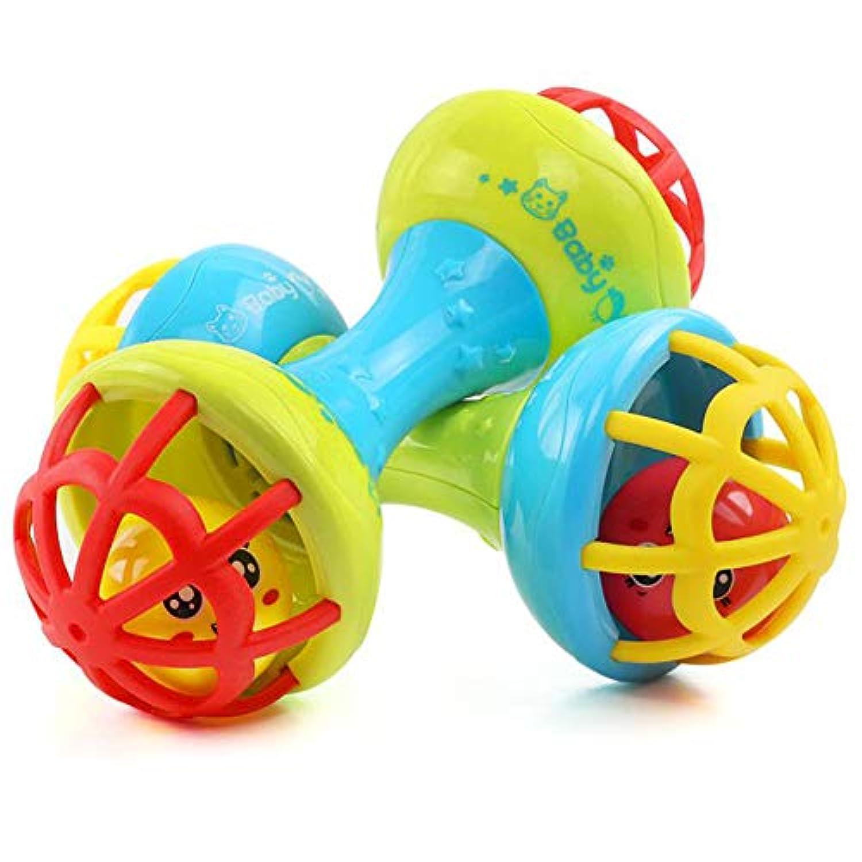 FairOnly ダンベル型 歯 ラトル 教育玩具 赤ちゃん 幼児用 ランダムカラー