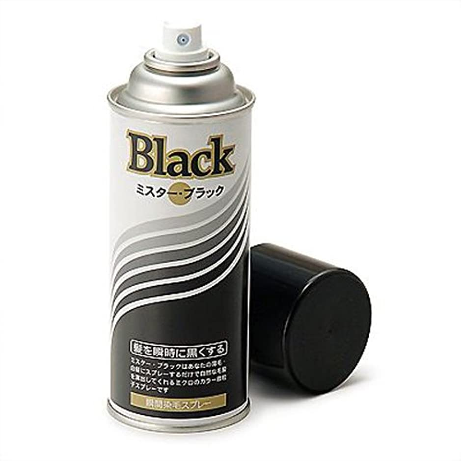 簡単な主流難しい増毛スプレー剤で薄毛を瞬時で増毛にするミスターブラック1本