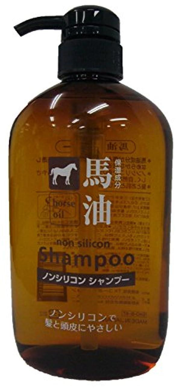 共役実質的に依存する【セット販売】 熊野油脂 馬油シャンプー 600ml ×16個