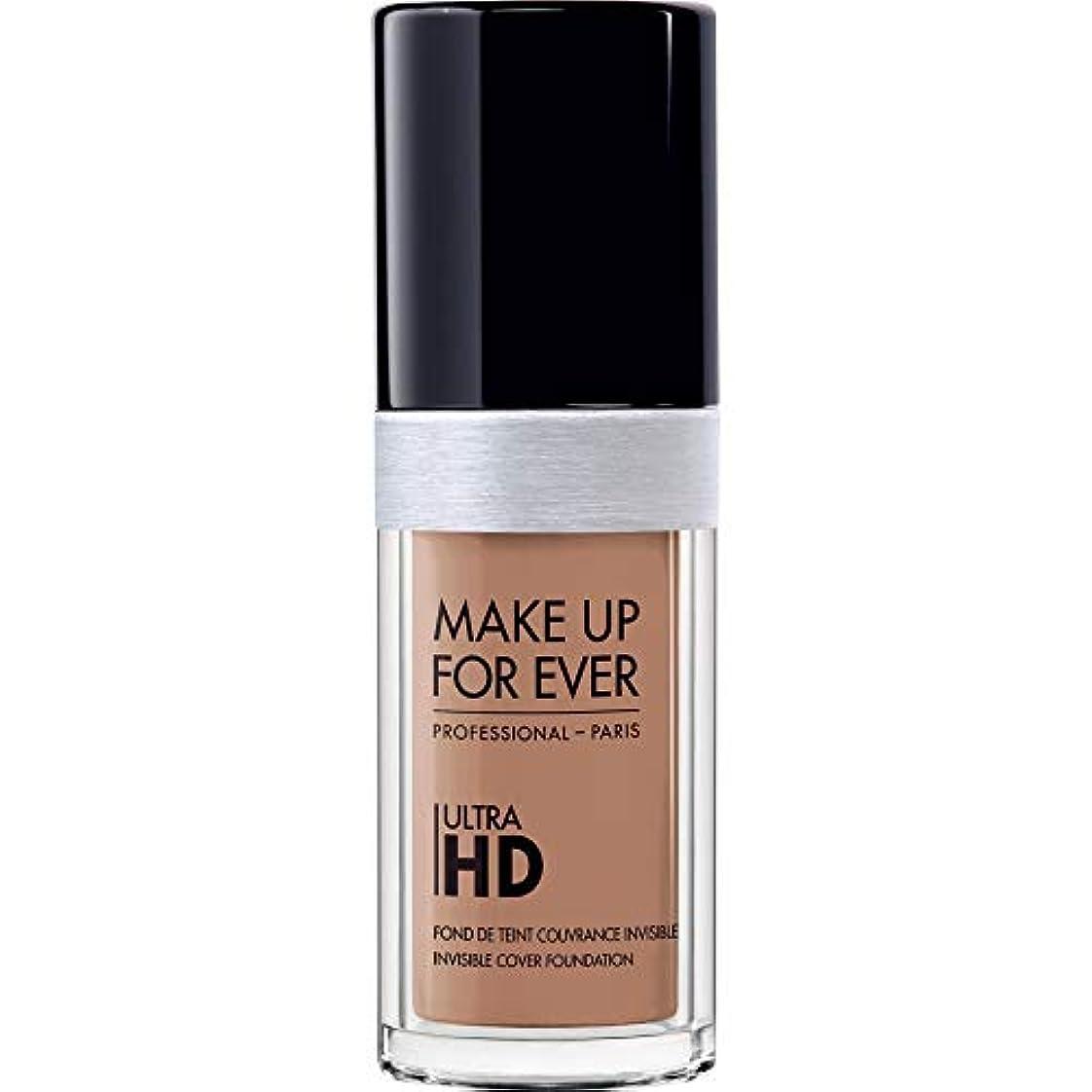 ワーカーオリエント招待[MAKE UP FOR EVER ] 目に見えないカバーファンデーション30ミリリットルのY435 - - これまでの超Hdの基盤を補うキャラメル - MAKE UP FOR EVER Ultra HD Foundation...