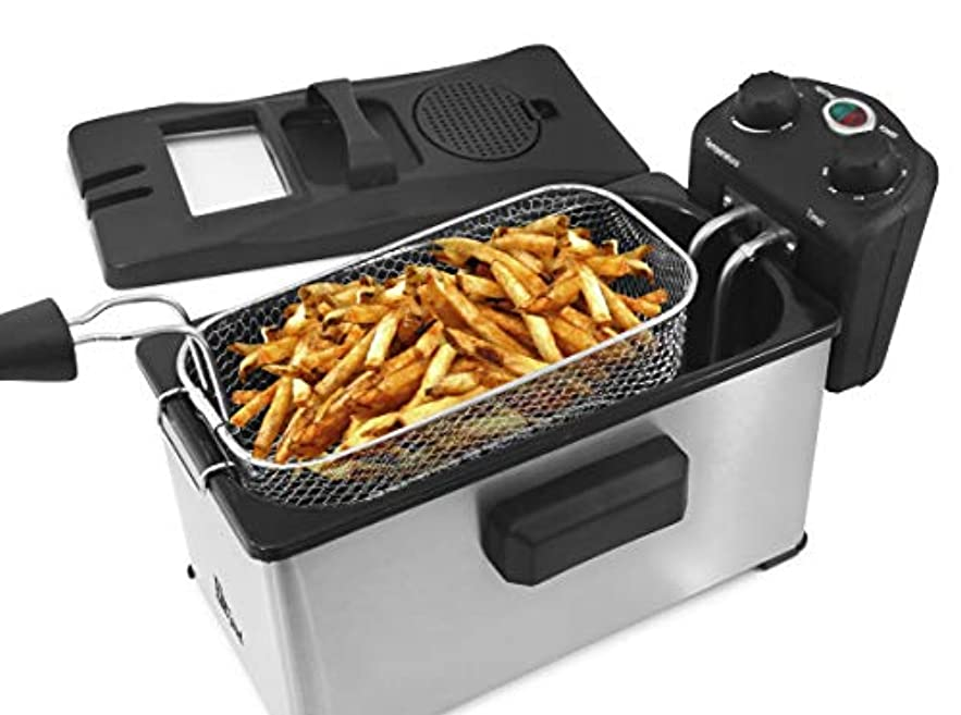 独占アドバイス超高層ビルElite Gourmet EDF-3500 Maxi-Matic 3.5 Quart Deep Fryer, Stainless Steel by Elite Gourmet Digital Bread Maker