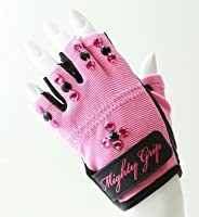 Mighty Grip Pole Dance NON TACK BLING Gloves ポールダンス用手袋 Candy Pink XS [並行輸入品]