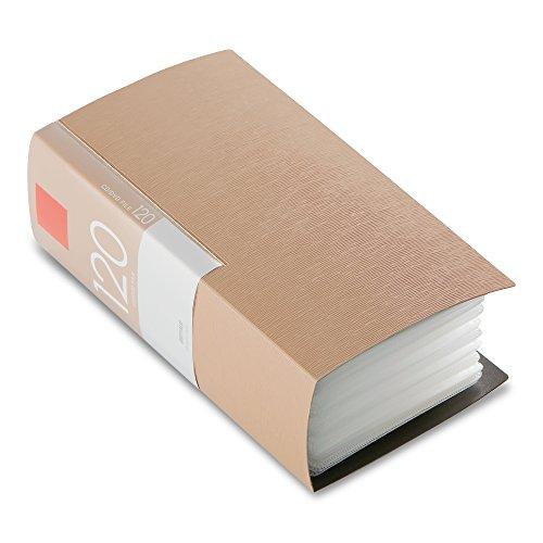 BUFFALO CD&DVDファイルケース ブックタイプ 120枚収納 ベージュ BSCD01F120BG 1個