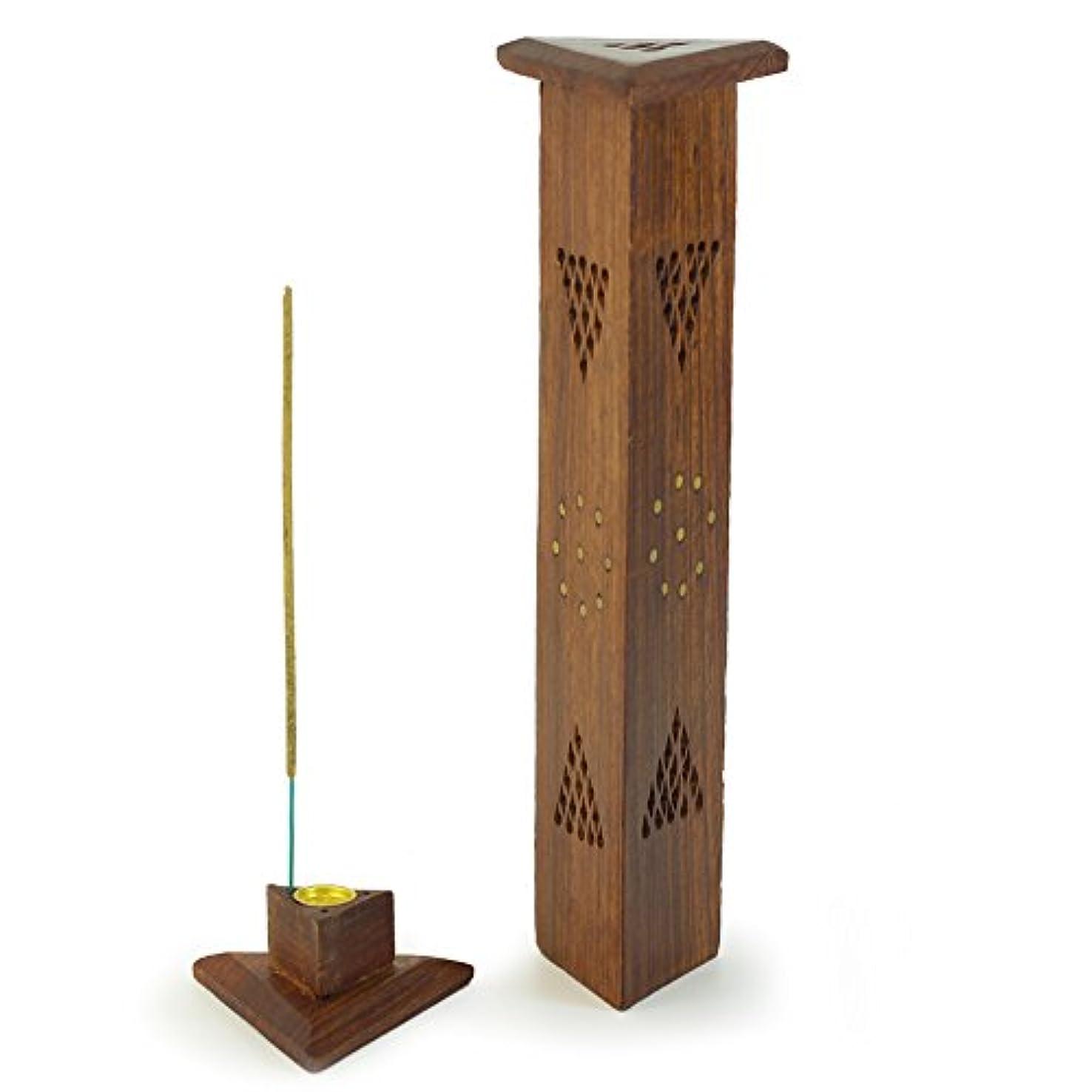 葉巻ポーチ問い合わせ香炉 – 木製三角形タワー