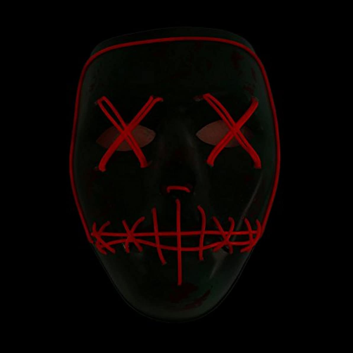 暴君ロンドン羽Auntwhale ハロウィーンマスク大人恐怖コスチューム、光るゴーストフェイスファンシーマスカレードパーティーハロウィンマスク、フェスティバル通気性ギフトヘッドマスク