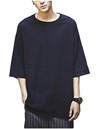 (スノーラル) SNOWRAL カットソー Tシャツ オーバーサイズ 大きいサイズ ゆったり クルーネック 無地 3カラー ブラック ホワイト グレー