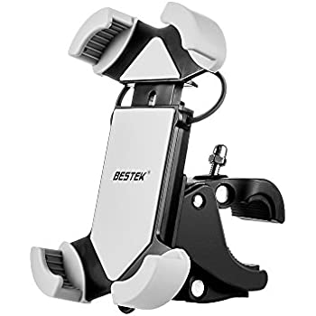 BESTEK 自転車ホルダー スマートフォン用ホルダー 保護バンド付き iPhone plus まで対応可能 BTBM01N