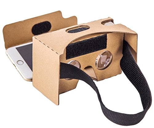 KAWOE VRグーグルカードボード ゴーグル超3D眼鏡 DIYグラス 組み...