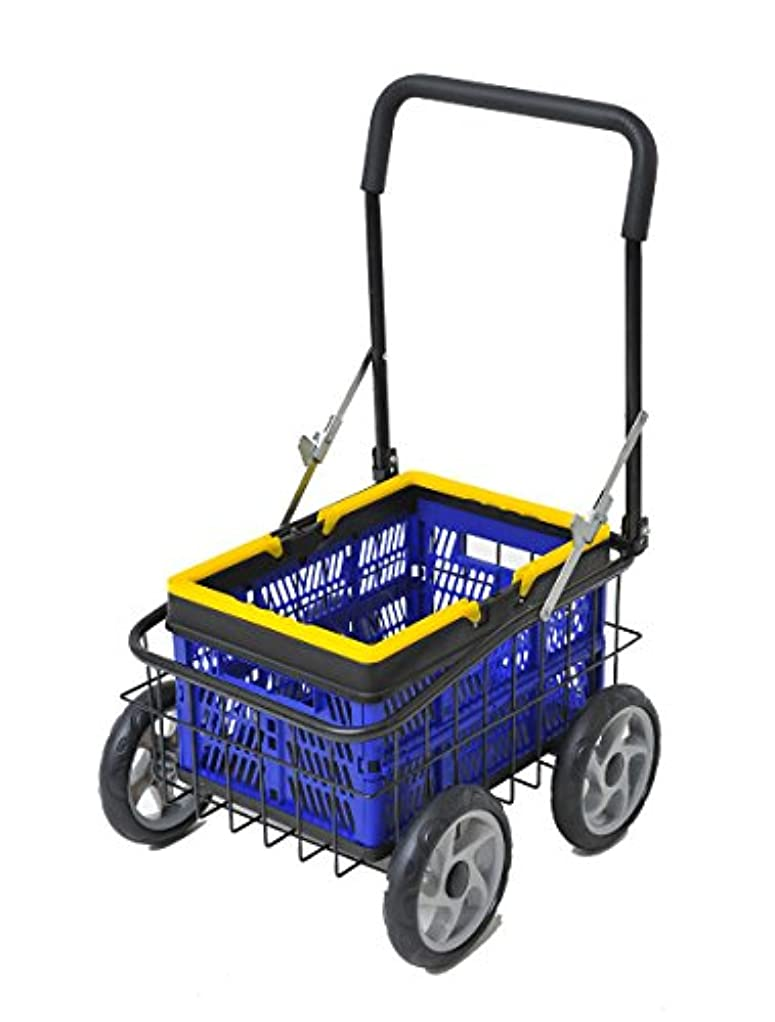 メンテナンスクレデンシャル偉業カゴ付きキャリーカート 【完成品】 買い物 農作業 ゴミ出しに便利 台車