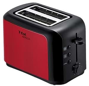 T-fal トースター 「アプレシア」 ポップアップ メタリックルビーレッド TT356GJP
