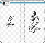 iPhone/Xperia/Galaxy/他機種選択可:サッカー/グラフィティ手帳ケース(デザイン:マドリッド/10番_01) 09 iPhone X