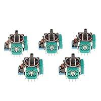 Flameer 3Dロッカー ジョイスティック 軸 交換補修部品 コントローラー用品 ソニーPS4対応 ブルー 5ピース