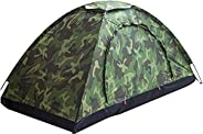 ZC Compact Camouflage Tent for 1 Person Outdoor, Waterproof, Camouflage, UV Protection, Camping, Hiking, Disas
